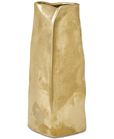 Madison Park Signature Ramsay Ceramic Gold Vase