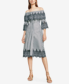 BCBGMAXAZRIA Off-The-Shoulder Embroidered Dress