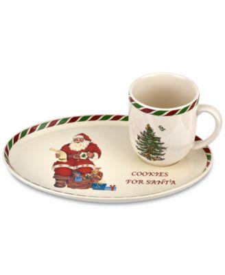 Christmas Tree Candy Cane Cookies for Santa Mug & Tray Set