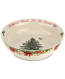 Spode Christmas Tree Annual 10'' Bowl, Created for Macy's