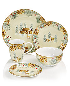222 Fifth First Snow Dinnerware Collection