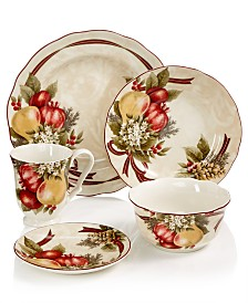 222 Fifth Yuletide Celebration Dinnerware Collection
