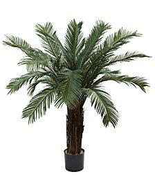 Nearly Natural 4' Cycas UV-Resistant Indoor/Outdoor Artificial Tree