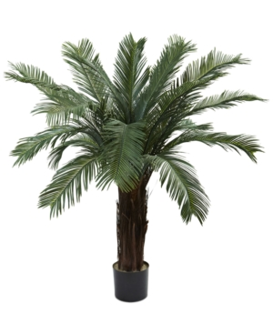 Nearly Natural 4 Cycas UvResistant IndoorOutdoor Artificial Tree