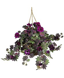 Morning Glory Artificial Plant Hanging Basket