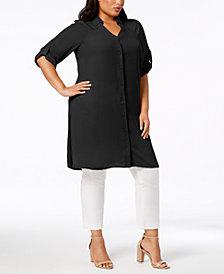 Alfani Plus Size Long Tunic Shirt, Created for Macy's