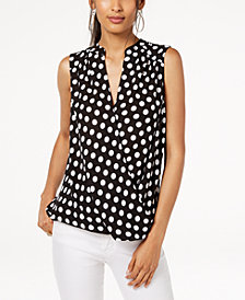 I.N.C. Petite Striped Surplice Top, Created for Macy's