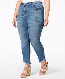 Seven7 Trendy Plus Size Slant-Hem Jeans