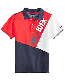 Tommy Hilfiger Big Boys Logo-Print Cotton Polo