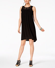 Style & Co Fringe-Trim High-Low Dress, Created for Macy's