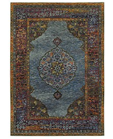 "Journey Ardebil Blue 1'10"" x 3'2"" Area Rug"