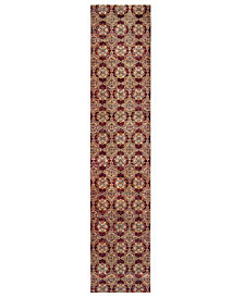 "Macy's Fine Rug Gallery Journey Vella Red 2' 6"" x 12' Runner"