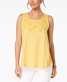 Cotton Soutache-Trim Tank Top, Created for Macy's