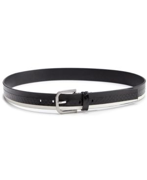 Calvin Klein Snakeskin & Leather Belt