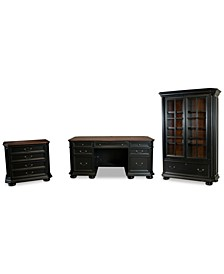 Beekman Home Office, 3-Pc. Set (Executive Desk, File Cabinet & Bookcase)
