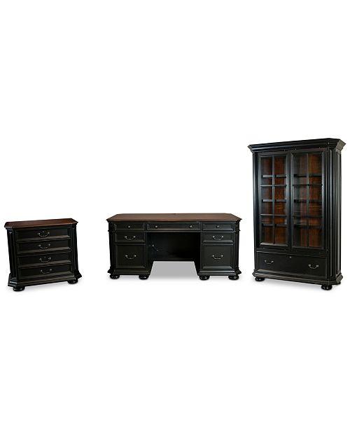 Furniture Beekman Home Office, 3-Pc. Furniture Set (Executive Desk, File Cabinet & Bookcase)