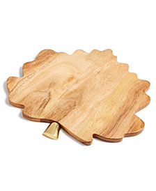 Martha Stewart Collection Leaf Wood Charger