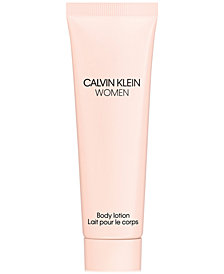 Receive a Complimentary 1-oz. Women Body Lotion with any large spray purchase from the Calvin Klein Women fragrance collection
