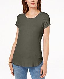I.N.C. Mixed-Media T-Shirt, Created for Macy's