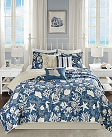 Cape Cod Reversible 6-Pc. Full/Queen Coverlet Set