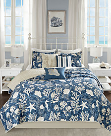 Madison Park Cape Cod Reversible 6-Pc. Full/Queen Coverlet Set