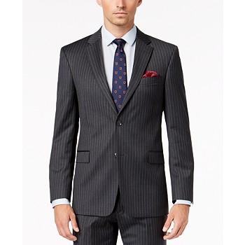 Tommy Hilfiger Men's Slim-Fit TH Flex Stretch Stripe Suit Jacket