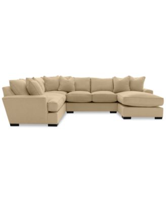 Furniture Ainsley 3 Piece Fabric Chaise Sectional Sofa With 6 Toss Pillows,  Created For Macyu0027s   Furniture   Macyu0027s