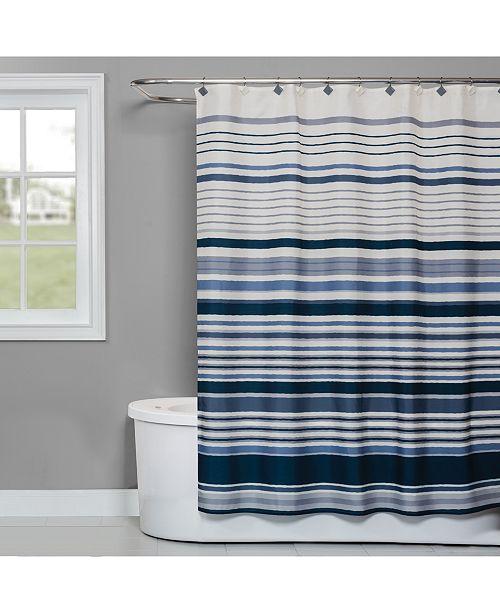 "Saturday Knight Cubes Stripe 70"" x 72"" Shower Curtain"