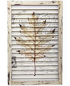 Maple Leaf Window Shutter Wall Decor