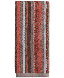 Saturday Knight Coral Garden Cotton Stripe Hand Towel