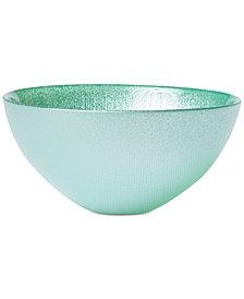 VIETRI Glitter Glass Aqua Small Bowl