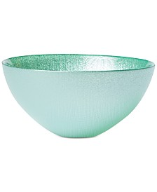 VIETRI Glitter Glass Aqua Small Bowl
