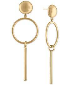 RACHEL Rachel Roy Gold-Tone Post & Circle Drop Earrings