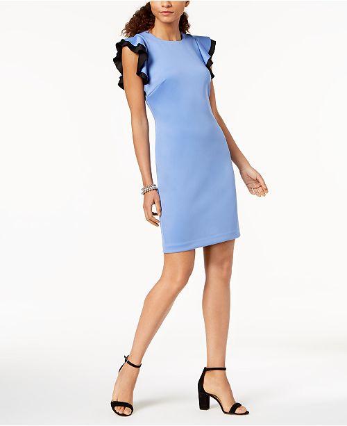 c5c77bbc Tommy Hilfiger Flutter-Sleeve Scuba Dress & Reviews - Dresses ...
