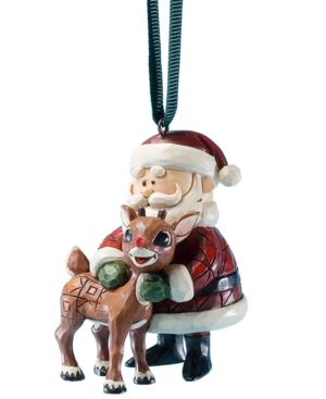 Jim Shore Santa Hugging Rudolph Ornament