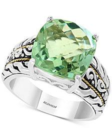 EFFY® Prasiolite Statement Ring (5-9/10 ct. t.w.) in Sterling Silver & 18k Gold