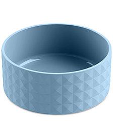 TarHong Diamond Stoneware Large Blue Pet Bowl