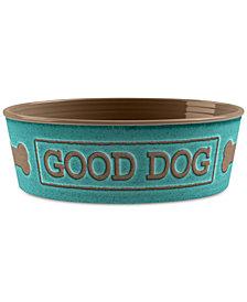 TarHong Good Dog Teal Medium Pet Bowl