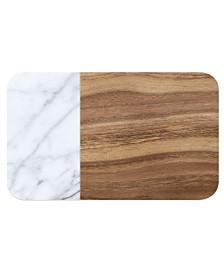 TarHong Faux Acacia Wood & Carrara Marble Pet Placemat