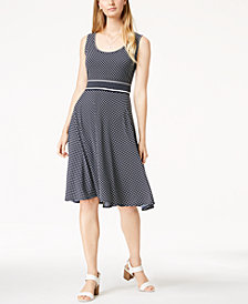 Maison Jules Printed Sleeveless Fit & Flare Dress, Created for Macy's