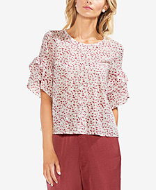 Vince Camuto Printed Ruffled Top