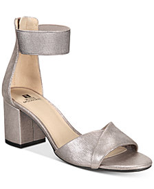 White Mountain Ever Two-Piece Block-Heel Sandals