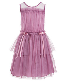 Nanette Lepore Big Girls Satin-Trim Tulle Dress
