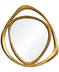 Goldie Large Triangle Mirror, Quick Ship
