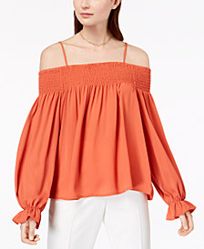 Ultra Flirt By Ikeddi Juniors' Smocked Off-The-Shoulder Top