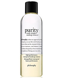 philosophy Purity Made Simple High-Performance Waterproof Makeup Remover, 6.6-oz.