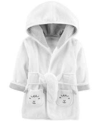 Baby Boys or Baby Girls Cotton Lamb Bathrobe 0-9M