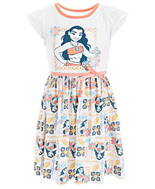 Disney Little Girls Moana Printed Dress