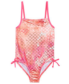 Penelope Mack Little Girls 1-Pc. Printed Flounce Swimsuit