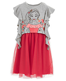 Disney Little Girls Elena Ruffle-Sleeve Dress